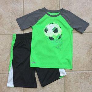 Jumping Beans Boys Soccer ⚽️ Tee Shirt & Shorts